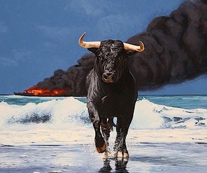Josh Keyes art and dystopia