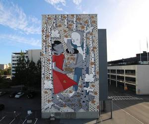 """Keep me"" - Lovely Mural by Street Artist Millo"