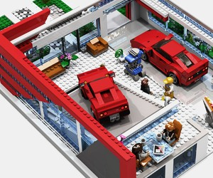 LEGO: Ferrari-Showroom