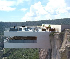 Cantilevered Restaurant Overhangs Copper Canyon