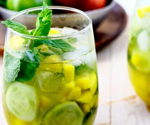 Mango-Cucumber Wine Cooler