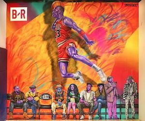 Michael Jordan Mural by Street Artist Madsteez