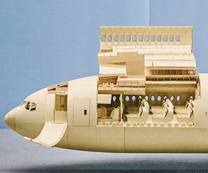 1:60-Scale Boeing 777 Made Out Of Manila Folders