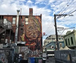 Mural of the Dalai Lama in Melbourne