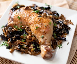 Lemon Roasted Chicken with Wild Mushrooms