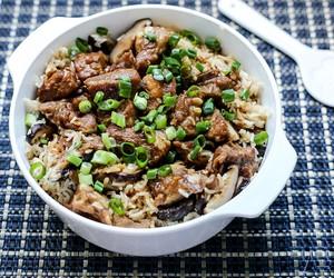 Mushrooms & Pork Ribs Claypot Rice