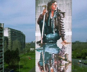 Massive New Mural by Fintan Magee in Belgium