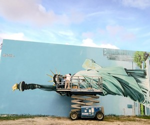 New Mural by Artist OZMO in Miami
