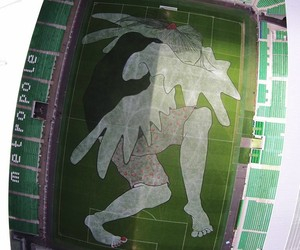 Sleeping Giant by Ella & Pitr in Soccer-Stadium