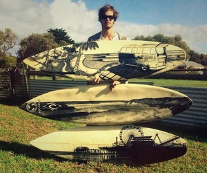 Old Retired Surfboards Get a New Life as Artworks
