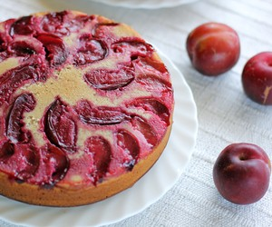 Plum and Boysenberry Yoghurt Cake