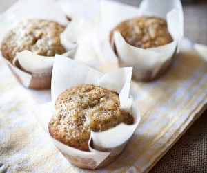 Honey Banana Poppy Seed Muffins
