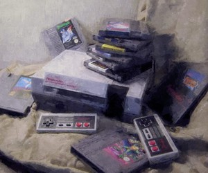 Still Life Paintings of Retro Gaming Consoles