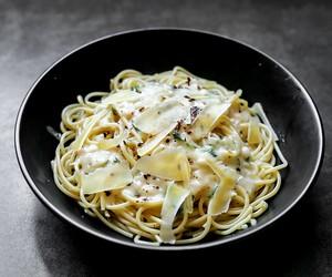 Spaghetti in White Bean Sauce