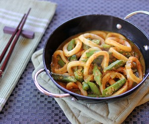 Squid and Okra Stir Fry