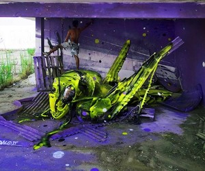 Streetart: Stunning 3D-Creations Made Out of Trash