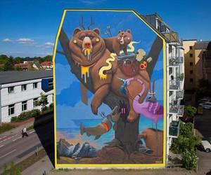 Vibrant Mural by Spanish Artist Dulk in Wittenberg
