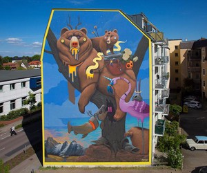 Huge wall painting by Dulk in Wittenberg