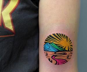 Vibrant Trippy Linocut Tattoos