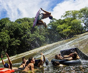 World's Most Epic Natural Waterslide
