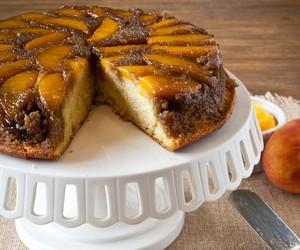 Whisky Peach Upside-Down Cake