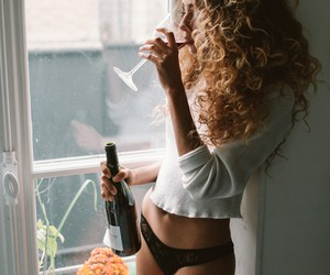"""Wine O'Clock"" – Brazilian Model Flavia Santiago"