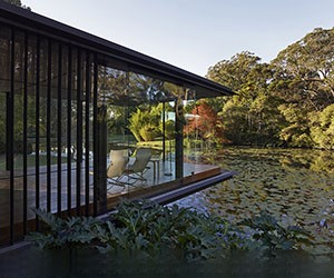 A Glass House on a Pond