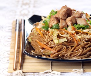 Japanese style sweet and spicy stir fried soba noo