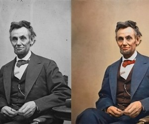 Famous Black and White Photos Converted to Color