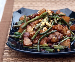 Pork & String Beans cooked in Filipino Adobo Sauce