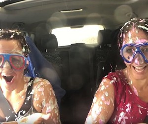 Youtubers drive through the car wash