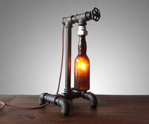 Industrial Style Beer Bottle Lamp