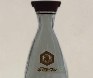Kikkoman soy sauce bottle to her design