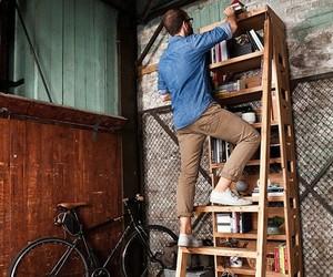 Built In Ladder Bookshelf