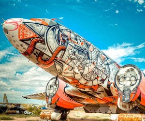 Scrapped Aircraft As Canvas For Art