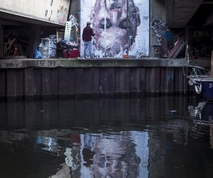"""Narcissus"" New Mural by Borondo in East London"