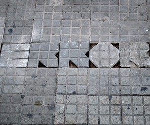 Street art on the ground by David de la Mano