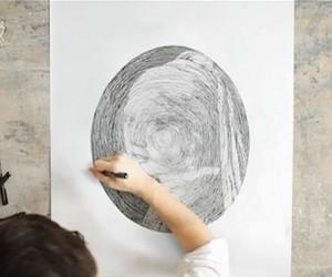 Circle Drawings by Chan Hwee Chong (Pics + Clip)
