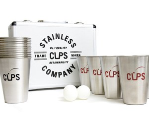 CUPS Co. Stainless Beer Pong Set