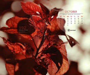 Free Desktop Calendar – October 2012