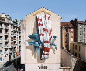 Mural by Street Art-Duo Nevercrew in Grenoble
