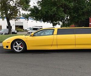 Ferrari 360 Modena was converted into a limo