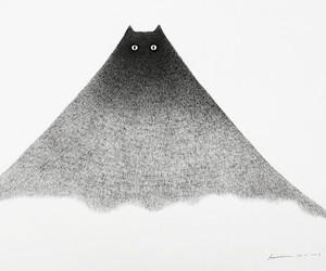 Fluffy cat illustrations