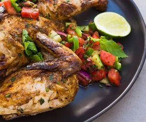 Graham Elliots 'Chicken and Watermelon Salsa'