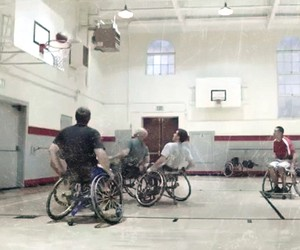 wheelchair basketball players... with a twist...