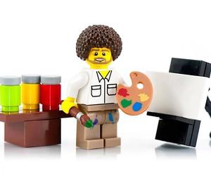 SillyBrickPics sells Bob Ross as a Lego figure