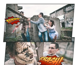 Horror Comic Engagement Photos by Laszlo Bodnar