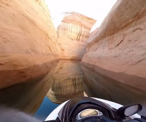Jet Skiing Through Canyons In Lake Powell