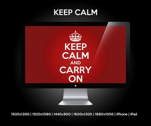 Keep Calm & Carry On | Wallpaper