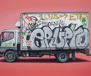Kevin Cyr paints graffiti-decorated vehicles
